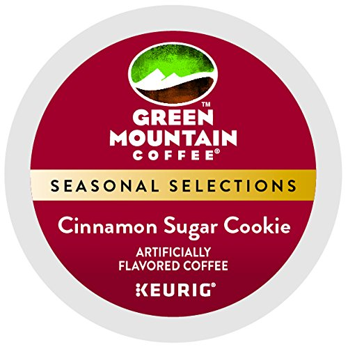 - Green Mount Coffee Cinnamon Sugar Cookie Keurig Single-Serve K-Cup Pods, Light Roast Coffee, 24 Count