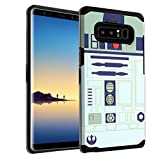 Galaxy Note 8 Star Wars Case, IMAGITOUCH 2-Piece Style Armor Case with Flexible Shock Absorption Case and Star Wars R2D2 Robot Cover for Galaxy Note 8 (2017) - Star Wars R2D2 Starwars Hybrid