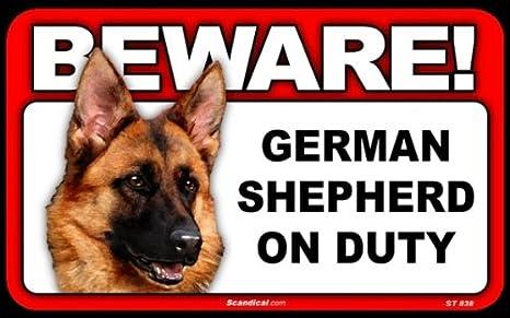 Amazoncom Beware Guard Dog On Duty Sign German Shepherd Yard