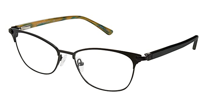 e19ef354f1 Eyeglasses Ann Taylor Titanium AT 600 C01 MT BLK DK TEAL at Amazon ...