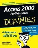Access 2000 for Windows for Dummies®, John Kaufeld, 0764504444