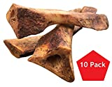 Lilly's Choice Dog Bones with Bone Marrow - Made in USA - Natural America Grass Fed Hickory Smoked Meaty Beef Ulna Chew Treats - Best for a Small Puppy to Medium Breed Puppies and Dogs - 10 Pack