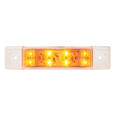 Grand General 76261 Amber Rectangular Wide Angle 8 LED Marker/Clearance Light with Clear Lens: Automotive