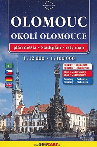 Olomouc 1:12 000, plán města =: Stadtplan = City map (Czech Edition)
