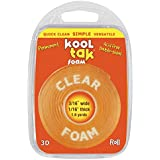KOOL TAK Clear Foam Roll Tape, 3/16-Inch by 1/16-Inch by 1.6-Yard