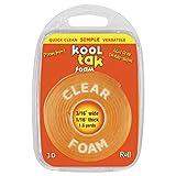 KOOL TAK Clear Foam Roll Tape, 3/16-Inch by