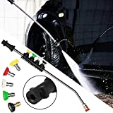 MOGOI Pressure Washer Wand Extension with Adapter, 23 Inch Replacement Lance, Compatible Karcher K2, K3, K4, K5, K6, K7