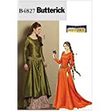 Butterick Patterns B4827 Misses' Medieval Dress and Belt, Size AA (6-8-10-12)