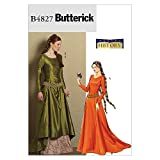 BUTTERICK PATTERNS B4827 Misses' Medieval Dress and Belt, Size EE (14-16-18-20)