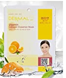 Vitamin C Sheet Mask Dermal Korea Collagen Essence Full Face Facial Mask Sheet Pack No5. Vitamin 23g 10pcs