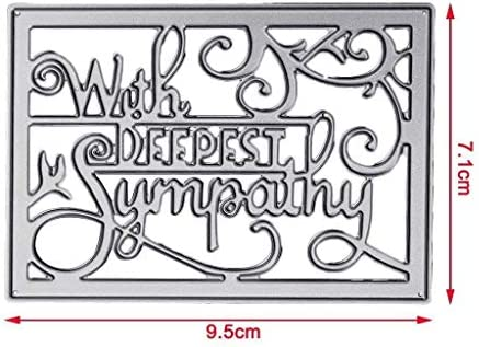 With Deepest Sympathy Cutting Dies Stencils DIY Embossing Paper Card Making