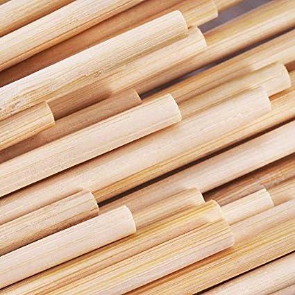Amazon.com: Varillas de madera de bambú para jardín, de 16 ...