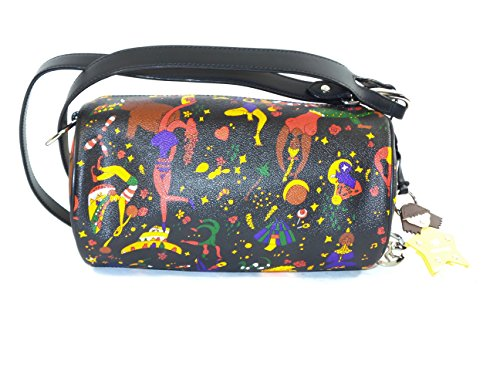 Borsa a tracolla Cilindro - Piero Guidi Magic Circus 24 x 15 x 13 cm Nero