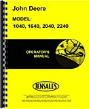 John Deere 2040 Tractor Operators Manual