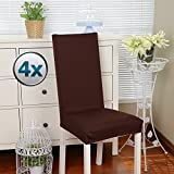 Chair Covers Stretch Cover Slipcovers 4PCS Dining Room Elastic Modern Protector With