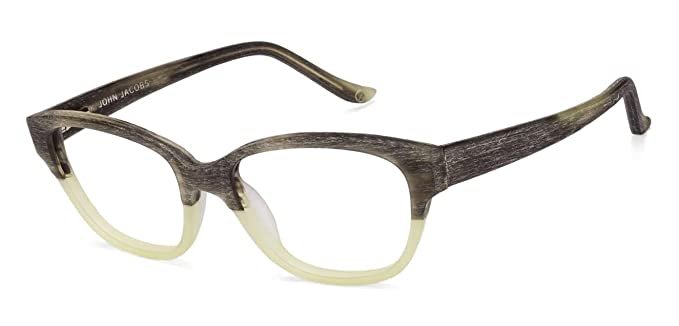 dc82c4343a5 Image Unavailable. Image not available for. Colour  Matte Green Full Rim  Wayfarer Shape Medium (Size-52) John Jacobs Rich Acetate