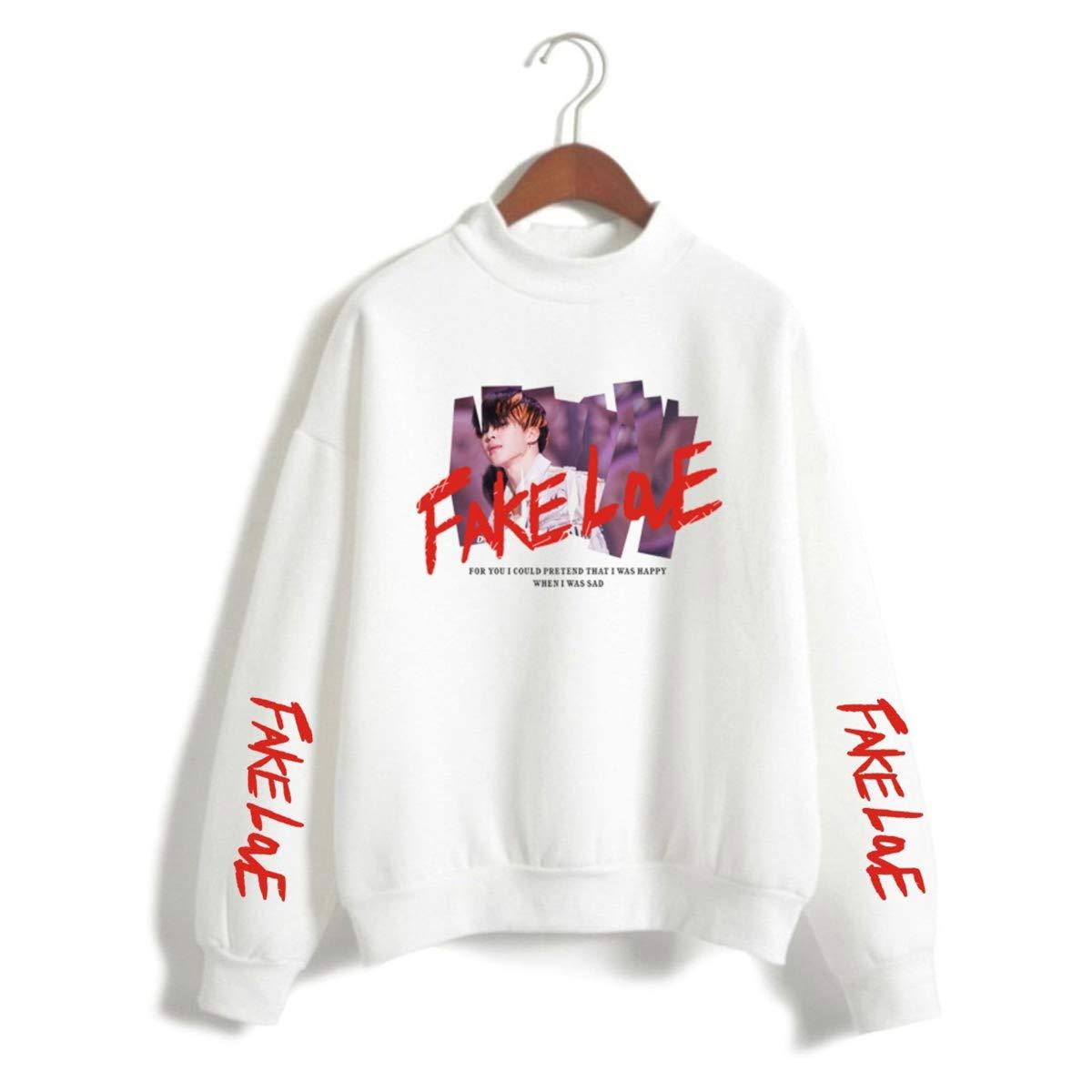 SIMYJOY BTS Fake Love Sweatshirt Damen Pullover M/ädchen Pulli Bangtan Boys Harajuku Tops