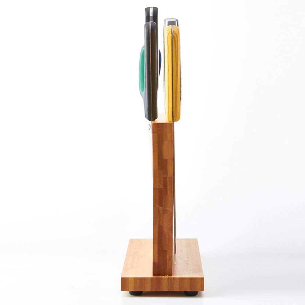 Magnetic Knife Block KitchenKnifeBlock Wooden MagneticKnifeHolder BambooKnifeStand Knife Dock by WOOYAN (Image #7)