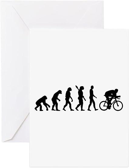 CafePress – Evolución ciclismo bicicleta – Tarjeta de felicitación, tarjeta de nota, tarjeta de cumpleaños, interior en blanco mate: Amazon.es: Oficina y papelería