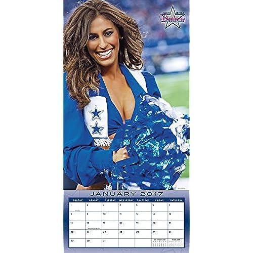 Turner Licensing 2017 Dallas Cowboys Cheerleaders Wall Calendar 12