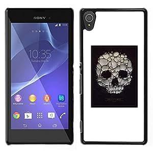 """For Sony Xperia T3 Case , Cartel blanco del cráneo burbuja de jabón Muerte"""" - Diseño Patrón Teléfono Caso Cubierta Case Bumper Duro Protección Case Cover Funda"""