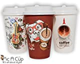 50 cups of coffee - Pic A Cup Perfect New Designed For Premium Hot Coffee/Tea/Chocolate Disposable Paper Cups, With Leak Proof Lids. 12 Oz, Set Of 50 Cups.