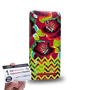 "Case88 [Asus Zenfone 6 6.0"" A600CG] 3D impresa Carcasa/Funda dura para & Tarjeta de garantía - Art Drawing Fashion Floral Chevron D"