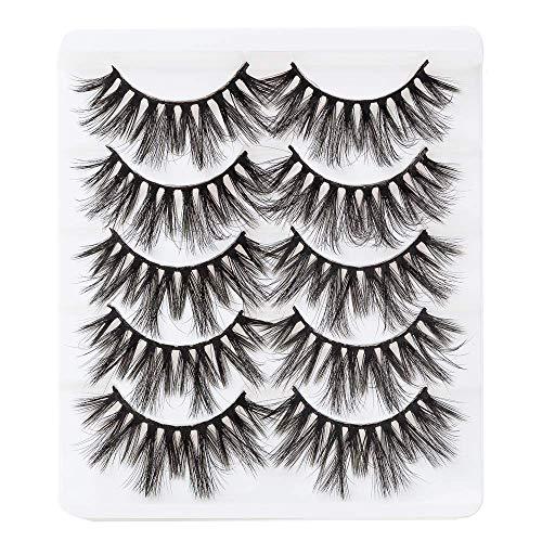 3D False Eyelashes Dramatic Long Lashes,18mm Fluffy Fake Eyelash,Handmade Soft Lash Strip Extensions,5 pairs