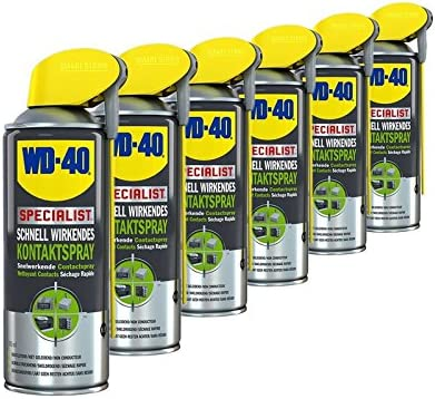 6 X 400ml Wd 40 Smart Straw 40 Specialist Contact Spray Contact Cleaner Electrical Spray Contact Electrical Cleaner Spray Can Fast Effective With Integrated Head Auto