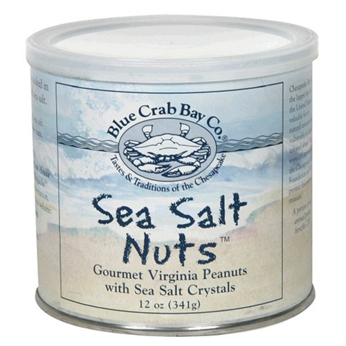 Blue Crab Bay Co. Sea Salt Nuts, 12-Ounce Packages (Pack of 4)