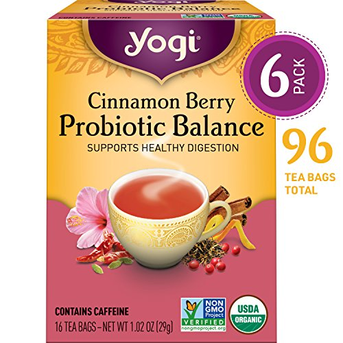 Yogi Tea - Cinnamon Berry Probiotic Balance - Supports Healthy Digestion - 6 Pack, 96 Tea Bags Total