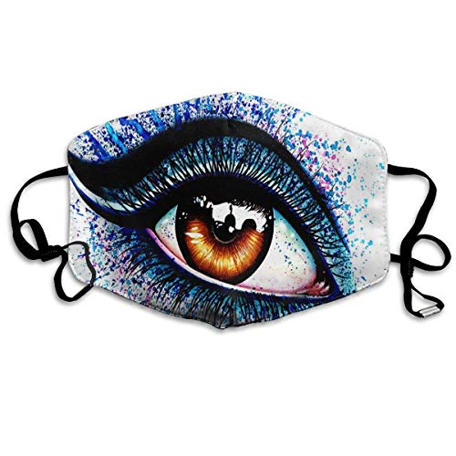 (Signed Art Print Colorful Eye Printed Mouth Masks Unisex Anti-dust Masks Reusable Face)
