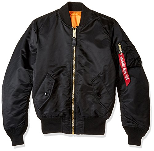 Alpha Industries Men's MA-1 Flight Bomber Jacket, Black, XX-Small by Alpha Industries (Image #3)