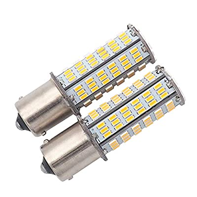 GRV BA15S 1156 1141 LED bulb 126-3014 SMD AC/DC 11-24V 4W High Bright Warm White Pack of 2: Automotive