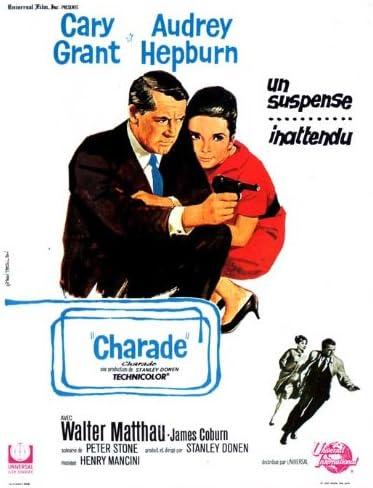 Charade Cary Grant Audrey Hepburn Repro Film Poster