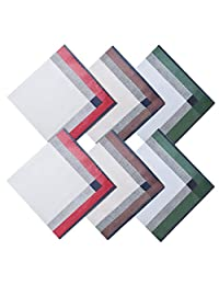 HanKeepA Men's Handkerchiefs 100% Cotton Assorted Hankies 6-piece Green