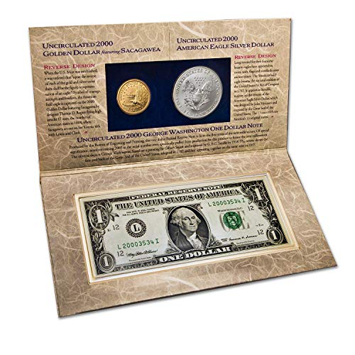2000 Various Mint Marks US Millennium Coinage and Currency Set Uncirculated