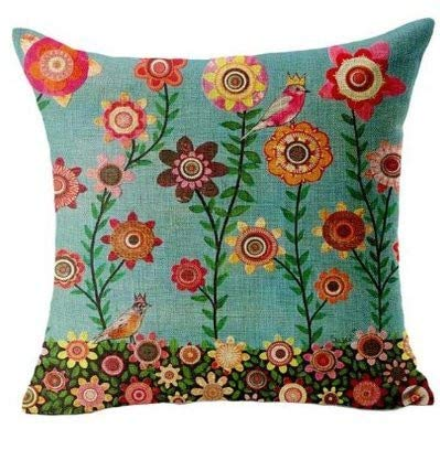 CCFAMILY Home Office Sofa Hug Pillowcase Cushion Butterfly Shell Girl, Linen 45x45 cm