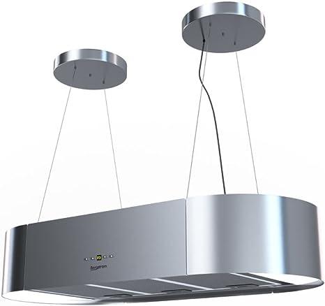 Bergstroem - Campana extractora tipo isla de acero inoxidable, diseño colgante, clase energética A: Amazon.es: Grandes electrodomésticos