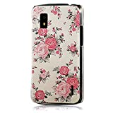 MOLLYCOOCLE Multi-style Painted Series Transparent PC Case Pink Peony Flower Pattern Skin Cover Shell for LG E960 Google Nexus 4