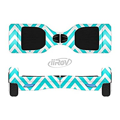 iiRov The Trendy Blue Sharp Chevron Pattern Full-Body Wrap Skin Kit for The HoverBoards and Other Scooter (Hoverboard NOT Included) : Sports & Outdoors