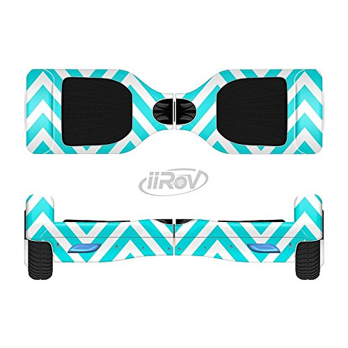 The Trendy Blue Sharp Chevron Pattern Full-Body Wrap Skin Kit for the iiRov HoverBoards and other Scooter (HOVERBOARD NOT INCLUDED)
