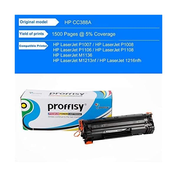 proffisy for HP Laserjet M1136 MFP Black CC388A / 88A Toner Cartridge (HP Laserjet M1136 MFP)