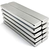磁石 強力な棒磁石 バーマグネット 超強力マグネットバー 冷蔵庫、キッチン、オフィス、工芸、吊り橋 希土類マグネット 家庭用パワーマグネット 産業用 厚い、強く、抗錆 (60x10x4mm 10PCS)