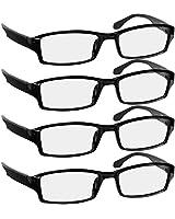 Reading Glasses 1.25 4 Pack Black Readers For...