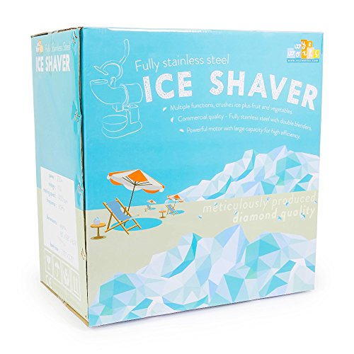 WYZworks Stainless Steel Commercial Ice Shaver Heavy Duty - Snow Cone Shaved Icee Maker Machine by WYZworks (Image #6)