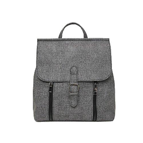 Light Fashion Canvas Backpack Shoulder Bag Backpack School College For Adolescent Girls Gray Women