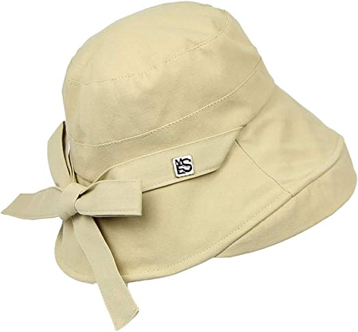 Fisherman Cap For Women Anti-UV Cozy Wide Brim Soild Beach Hat By Sagton Yellow