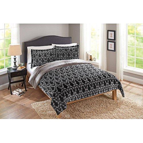 Merekesh Velvet Plush Print Queen-Size Bedding Comforter, 3-Piece Set
