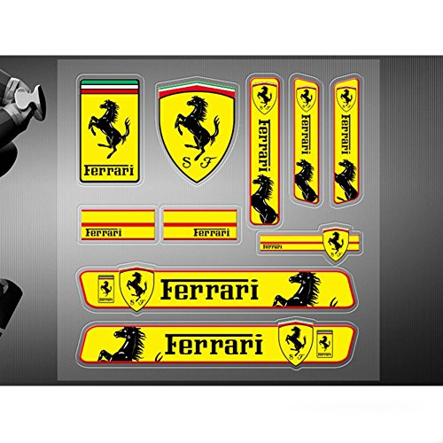 Encell Set of 2 PVC Auto Sticker Decal Emblem Badge For - Logo Ferrari For